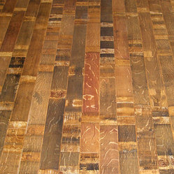 Fontenay Wine Barrel Flooring - Stave