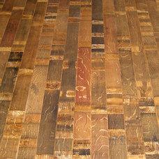 Farmhouse Hardwood Flooring by Wine Racks America