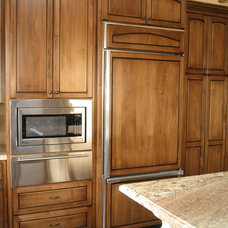 Mediterranean Kitchen Cabinetry by Custom Homes by Miller