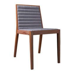 MODLOFT - Carlton Dining Chair - Carlton dining chair features wood frame with upholstered fabric tufted seating.
