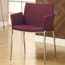 Coaster - 120723 Dining Chair - Cranberry, Set of 2 - 120723 Dining Chair - Cranberry, Set of 2
