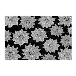DiaNoche Designs - Elegant Floral Area Rug - Finish off your bedroom or living space with a woven area rug with chevron pattern from Dianoche Designs. The last true accent in your home decor that really ties the room together. Maybe its a subtle rug for your entry way, or a conversation piece in your living area, your floor art will continue to dazzle for many years. 1/4 thick. Each rug is machine loomed, washed and pre-shrunk, printed, then hemmed on the edges. Spot treat with warm water or professionally clean. Dye Sublimation printing adheres the ink to the material for long life and durability