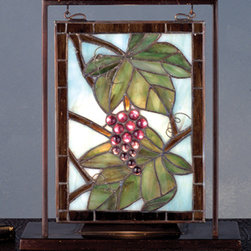 Meyda - 9.5 Inch W X 10.5 Inch H Napa Vintage Mini Window Windows - Color Theme: Beige Purple 59 Amber