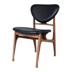 #N/A - The Sandler Dining Chair - The Sandler Dining Chair. This mid century inspired dining chair is made using solid american walnut and aniline dyed genuine leather.  Inspired by danish designs from the 60's but made in a size suitable for todays home.