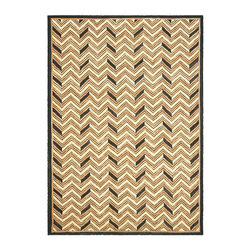 Frontgate - Ralph Lauren Holden Chevron Area Rug - Textured American cable hook technique. 85% cotton/15% jute fibers. Equally at home in traditional or transitional settings. Professionally clean. A modern interpretation of classic American hooked rugs, the Holden Chevron Area Rug will complement traditional and transitional interiors designed for the casual country lifestyle. Large ribbons of cotton and jute are formed into thick cables to create a richly-textured chevron motif.. . . . Made in China.