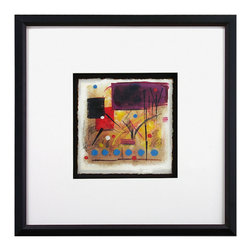 John Richard - John Richard Magical IV GBG-0413D - Magical IV giclee from original abstract oil painting by Dyann Gunter covered with lustrous clear glazing single mat framed, in narrow wood molding with black finish.
