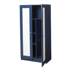 None - FlexHOME Blue Pine Kids Storage Cabinet - Organize your childs things with this kids storage cabinet. With its blue pine,solid wood composition as well as interior shelving space and compartments,this attractive cabinet is well crafted and helps keep items organized and tidy.