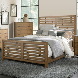 Broyhill� - Ember Grove Panel Bed - A refined casual contemporary collection touched by the practical woodworking style of the past. Figured ash veneers with rustic grain patterns are finished in a subtly distressed khaki. Primitive joinery balances modern style elements and antique pewter drawer pulls give this collection an industrial look. Ember Grove is true to Broyhill® Furnitures commitment to style and 100 years of quality craftsmanship. The casual, contemporary Ember Grove Panel Bed has figured-ash veneers in a weathered-khaki finish and modern slat design. Features: -Ember Grove collection. -Works with all rail options. -Includes 5 slats and 3 center supports. -Nightstand, dresser, mirror or two chest are optional. -Multi-step finish: To maximize the beauty and durability of the wood surface, Broyhill® uses a multi-step finishing process that protects while enhancing color, D and clarity. -Sturdy frame: For maximum durability, Broyhill® frames the inside of each case with cut-to-fit wood and seals the bottom with a panel. -Dovetail drawers: For sturdy drawers with maximum capacity, Broyhill® drawers are constructed with English dovetails in the front and back. -Smooth gliding, full extension drawers: For smooth opening and closing and drawers that extend to give full access to contents, Broyhill® uses metal side glides with ball-bearings. -Internal stops are used to ensure drawers dont pull out too far. -No-snag drawers: To keep clothes safe from snags, Broyhill® finishes drawer sides, bottoms and backs. -Cedar-lined bottom drawers: To protect sweaters, Broyhill® lines each bottom drawer of chests, dressers and under-bed storage with cedar. -Long-lasting hardware: To ensure hardware retains its luster and beauty, Broyhill® uses a special lacquer coating to protect it over time. -Secure backing: To hold the back panel in place, Broyhill® uses screws to securely fasten it and adds corner blocks to provide extra strength. -Cord management: Built-in cord management in media drawer of dresser keeps wires organized and tucked out of sight. -Touch lighting: A convenient strip on the back of nightstands allows any lamp to be turned on and dimmed with a simple touch. -Jewelry tray: Organize your jewelry in the removable lined jewelry tray located in the top drawer of the dresser.