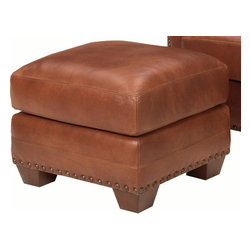 Lexington - Tommy Bahama Home Road To Canberra Torres Leather Ottoman - Inspired by Australia's rugged beauty and indigenous style, Road to Canberra from Tommy Bahama blends Aussie attitude with distinctive contemporary design.