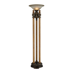 Dimond Lighting - 113-1135-LED Athena Torchiere Lamp, Athena Bronze - Traditional Torchiere Lamp in Athena Bronze from the Athena Collection by Dimond Lighting.
