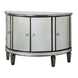 Uttermost - Uttermost Sainsbury Mirrored Console Cabinet - 24376 - Uttermost's console cabinets combine premium quality materials with unique high-style design.