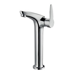 Vigo Aure VG03021CH Single Hole Vessel Faucet - The smooth curves of the Vigo Aure VG03021CH Single Hole Vessel Faucet lets it stand out from the crowd in style. Finished in a gleaming chrome, this faucet is made from solid brass for easy maintenance. A simple twist and pull of the lever gives you complete control over this faucet.Product SpecificationsLow Lead Compliant: YesEco Friendly: YesMade in the USA YesHandle Style: LeverValve Type: Ceramic DiscFlow Rate (GPM): 2.2Spout Height: 11.125 inchesSpout Reach: 4.375 inchesAbout Vigo Industries LLC Founded just over a decade ago in Rahway, N.J., Vigo Industries has established a reputation for offering attractive, affordable, innovative, and durable kitchen and bath products. From faucets and sinks to shower enclosures and bathroom vanities, Vigo's products are designed with state-of-the-art engineering that combines efficiency and elegance. Vigo's engineering and design teams always look ahead to fulfill the ever-evolving needs and tastes of consumers, bringing them the latest styles and trends without compromising quality.