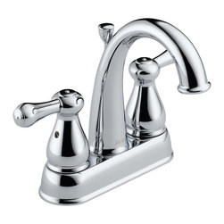 Delta - Delta 2575LF-MPU Leland 2 Handle Centerset Lavatory - Delta 2575LF-MPU is a two handle centerset lavatory faucet from the Leland collection finished in Chrome. It has a solid brass construction and a high arching spout which allows for great accesibility .It also has a matching roman tub faucet in order to complete the bachroom.