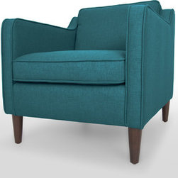 Bryght - Cherie Ocean Teal Armchair - A sleek contemporary profile, smooth tapered legs and slope arms makes the Cherie chair perfectly at home in your space.