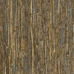 Bamboo Twig Fence - If you're looking for a natural looking fence or screening, this is a great option. It's bamboo, so it's sustainable, and it really does look like a natural screen.