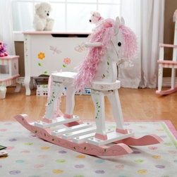 Teamson Design Princess & Frog Rocking Horse - Whimsical nature-inspired elements give the Princess & Frog Rocking Horse an air of playful sweetness. This durable solid wood horse comes complete with a bridle and softly curled pink and white mane and tail. Soft ribbons and thoughtful details make it ideal for your little girl. This rocking horse features a lovely pink and white color scheme. It is recommended for children age 3-6 years. Dimensions: 12L x 29W x 26.5H inches. This product has been carefully crafted for your enjoyment. Because each item is individually handmade, minor imperfections may occur. These characteristics enhance the beauty and charm of these products. Treated with a light lacquer finish, you may clean the wood surfaces with a soft damp cloth. About Teamson Design Corp.Teamson is a wholesale gift and furniture company based in Edgewood, New York. Known for their wide selection of products, Teamson has been providing for customers since 1997 and produces high quality items that are sure to delight you and your family. Trust in Teamson for all of your home decor, furniture, and gift-giving needs.