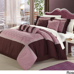 None - Quincy 12-piece Bed in a Bag with Sheet Set - Create a regal bedroom with this twelve-piece,purple,microfiber comforter bed set. Featuring a purple palette,this set includes a comforter,bed skirt,two shams,four decorative pillows,flat sheet,fitted sheet,and two pillowcases.