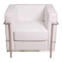 LC2 White Reproduction Chair -