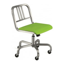 Nine-0 Swivel Chair, 3-Bar Back