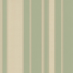 Pastel Green Striped Wallpaper - Give your walls a traditional look with a modern flare with wallpaper from the Regent Collection by Brewster.