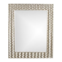 Howard Elliott - Howard Elliott 60151 Cabrera Bright Silver Leaf w/ Basket Weave Accents Mirror - Bright Silver Leaf w/ Basket Weave Accents Mirror belongs to Cabrera Collection by Howard Elliott Our Cabrera Mirror is a Contemporary piece featuring a rectangular frame with a raised basket weave effect. It is finished in a brilliant silver leaf. Mirror (1)