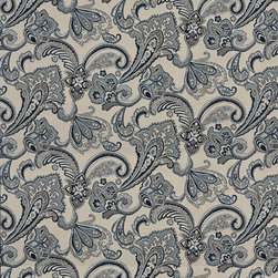 Navy Blue Beige Floral Foliage Indoor Outdoor Upholstery Fabric By The Yard - P301012 is great for residential and commercial applications, and can be used outdoors and indoors. This fabric will exceed at least 35,000 double rubs (15,000 is considered heavy duty), and is easy to clean and maintain. In addition, this product is stain, water, mildew, bacteria and fade resistant. For superior quality and performance, this fabric is woven and solution dyed.