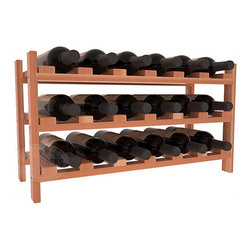 Wine Racks America - 18 Bottle Stackable Wine Rack in Premium Redwood, Satin Finish - Expansion to the next level! Stack these 18 bottle kits as high as the ceiling or place a single one on a counter top. Designed with emphasis on function and flexibility, these DIY wine racks are perfect for young collections and expert connoisseurs.
