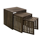 iMax - iMax Vermont Iron and Wood Nesting Tables - Set of 3 X-3-80801 - Set of 3 nesting tables that give off a industrial look.