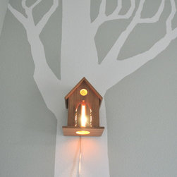 Nursery Wall Hanging Birdhouse Lamp - Modern TreeTop Baby was started with a small dream of creating fun, vibrant, yet modern nursery decor.