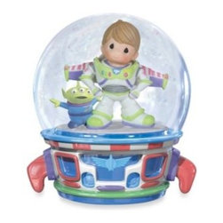 """Precious Moments - Precious Moments Buzz Lightyear Musical Waterglobe - Delight someone special with this playful Precious Moments Buzz Lightyear Musical Waterglobe. It plays """"You've Got A Friend In Me"""" while a boyish Buzz Lightyear fan dresses as his favorite hero."""
