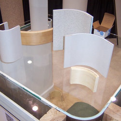 Various Curve products - Samples of our Curve-Corners for Drywall out on our display table at the Chicago Remodeling Show.