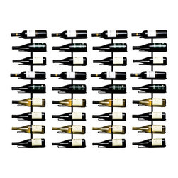 True Fabrications - 9 Bottle Wall Mounted Wine Rack Set of Four - Save money by buying in bulk.  Made from wrought iron, this vertical 9 bottle wall mounted metal wine rack allows you display your wine beautifully with it's minimalist design.  No assembly required metal rack. Black wrought iron. Includes mounting screws. Label-facing wine rack