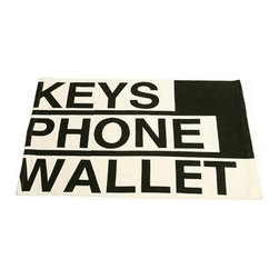 Black and White Keys, Phone, Wallet Fun Doormat - I should probably get two of these doormats: one for my house, one for my husband's office. And maybe one for every store, restaurant, park, anywhere he may stop.