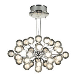 PLC Lighting - PLC Lighting PLC 72108 Thirty-Seven Light Decorative Chandelier Coupe C - PLC Lighting PLC 72108 Contemporary / Modern Thirty-Seven Light Decorative Chandelier from the Coupe CollectionSince 1989, PLC Lighting, Inc. has continued to provide our customers with both contemporary and traditional lighting fixtures in a multitude of styles. Their products can be found in showrooms throughout North, Central and South America, as well as the Caribbean Islands. They furnish the finest residences, hotels, restaurants, and office complexes all over the world.Features: