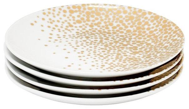 Contemporary Salad And Dessert Plates by Indigo