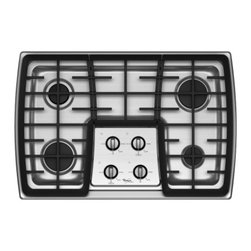 """Whirlpool - Gold G7CG3064XS 30"""" Sealed Burner Gas Cooktop With 4 Sealed Burners  Electronic - This Whirlpool gold 30 in smooth surface electric cooktop features the 17000 BTU Power the most powerful burner ever an AccuSimmer that allows for precise temperature control that is perfect for melting chocolate or simmering sauces and a cast-iron m..."""