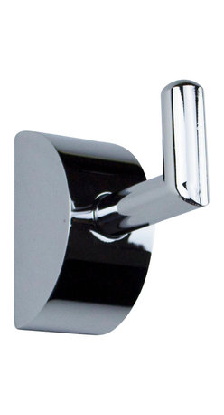 Hispania Bath - Ovallis Small Towel Robe Hook, Polished Chrome - Amazing touch for your bathroom area. Made in polished chrome, highly reflective. Makes the daily rituals in the bathroom even more comfortable for you, matches the faucet and shower lines within the World of Styles. These compelling counterparts offer beautiful designs as well as create convenience. Beautifully coordinates with other bathroom fixtures and the Ovallis collection from Macral Design product lines, such as towel rail, paper holder towel ring which are available to be purchased any time online in our Houzz profile stock items. Designed and manufactured in Spain.