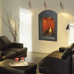 Modern Style Arched Indoor Gas Fireplace - Napolean Fireplaces