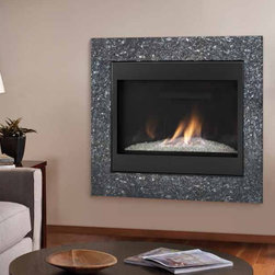 """Novus Evolution Direct Vent Gas Fireplace - Fashionable style with advanced technology.  Contemporary style highlighted by a porcelain interior and stunning glass media. 30"""" or 36"""" viewing area"""