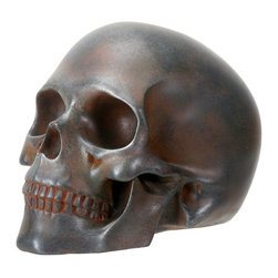 Summit - Decorative Rust Colored Skull Head Skeleton Figurine Statue Display - This gorgeous Decorative Rust Colored Skull Head Skeleton Figurine Statue Display has the finest details and highest quality you will find anywhere! Decorative Rust Colored Skull Head Skeleton Figurine Statue Display is truly remarkable.