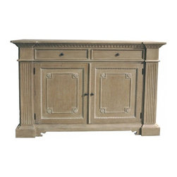 Isabelle Sideboard in Grey Finish - Isabelle Sideboard, Grey