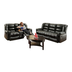 Chelsea Home Furniture - Chelsea Home Orleans Power Reclining 3-Piece Living Room Set in New Era Black - Orleans Power Reclining 3-Piece Living Room Set in New Era Black belongs to the Chelsea Home Furniture collection