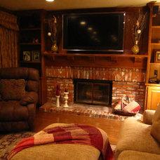 Traditional Family Room by Irina Bond of BondGirlGlam.com