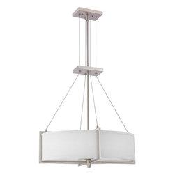 Nuvo Lighting - Nuvo Lighting 60-4465 Portia 2-Light Sconce with Slate Gray Fabric Shades - Nuvo Lighting 60-4465 Portia 2-Light Sconce with Slate Gray Fabric Shades (2) 13W GU24 Lamps Included