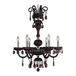 Worldwide Lighting - Worldwide Lighting W83178C25-CY Carnivale 6 Light Candle Style Crystal Chandelie - Features: