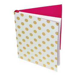 "Kate Spade - Kate Spade Gold Dots Spiral Notebook - Pretty Pretty Pretty is all we can say about this notebook to keep your thoughts, ideas and notes. You'll be inspired. 112 Lined Pages-8""H X 6""W"