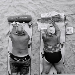 Coney Island, Brooklyn #4., Limited Edition, Photograph - Couple on beach towels. Coney Island, Brooklyn. 8X7.25 image size on 8.5X11 Paper.  This photo is also available in 15X13.5 Image size on 17X22 Paper. Edition of 100 for $750.00  Archival Print on Harman by Hahnemuhle Gloss Baryta Paper.