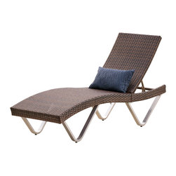 Great Deal Furniture - Manuela Outdoor Multibrown Wicker Chaise Lounge Chairs (Set of 2) - Enjoy a contemporary twist on traditional outdoor seating with the Manuela Chaise Lounge. This lounge is curved to fit the form of the body for maximum comfort and relaxation and adjusts to your lounging preferences. When not in use, you can fold this chair in half and tuck the legs for storage.