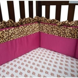 Trend Lab Berry Leopard Crib Bumpers - Provide a safe and soft barrier between your princess and the crib railings with the Trend Lab Berry Leopard Crib Bumpers. This set of four consists of two short and two long pieces that are made of 100% cotton and polyester. The chic bright pink color with accenting leopard-print ruffle trim adds the finishing touches to your little ones crib décor. Secure each bumper to any crib by using the convenient ties. Machine-wash on cold with like colors.About Trend LabFormed in 2001 in Minnesota, Trend Lab is a privately held company proudly owned by women. Rapid growth in the past five years has put Trend Lab products on the shelves of major retailers, and the company continues to develop thoroughly tested, high-quality baby and children's bedding, decor, and other items. Trend Lab continues to inspire and provide its customers with stylish products for little ones. From bedding to cribs and everything in between, Trend Lab is the right choice for your children.