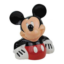 Westland - 11.25 Inch Mickey Mouse with Hands on Waist Colorful Cookie Jar - This gorgeous 11.25 Inch Mickey Mouse with Hands on Waist Colorful Cookie Jar has the finest details and highest quality you will find anywhere! 11.25 Inch Mickey Mouse with Hands on Waist Colorful Cookie Jar is truly remarkable.